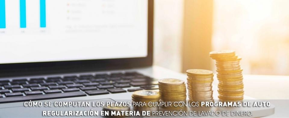 Cómo se computan los plazos para cumplir con los Programas de Auto Regularización en materia de Prevención de Lavado de Dinero.