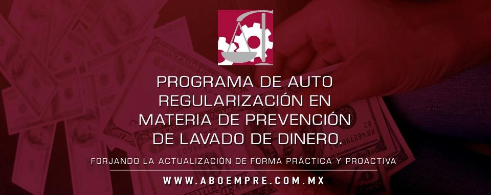 Programa de auto regularización en materia de prevención de lavado de dinero.