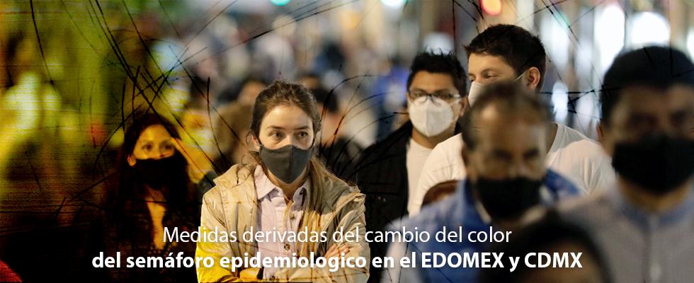 Medidas derivadas del cambio del color del semáforo epidemiologico en el EDOMEX y CDMX
